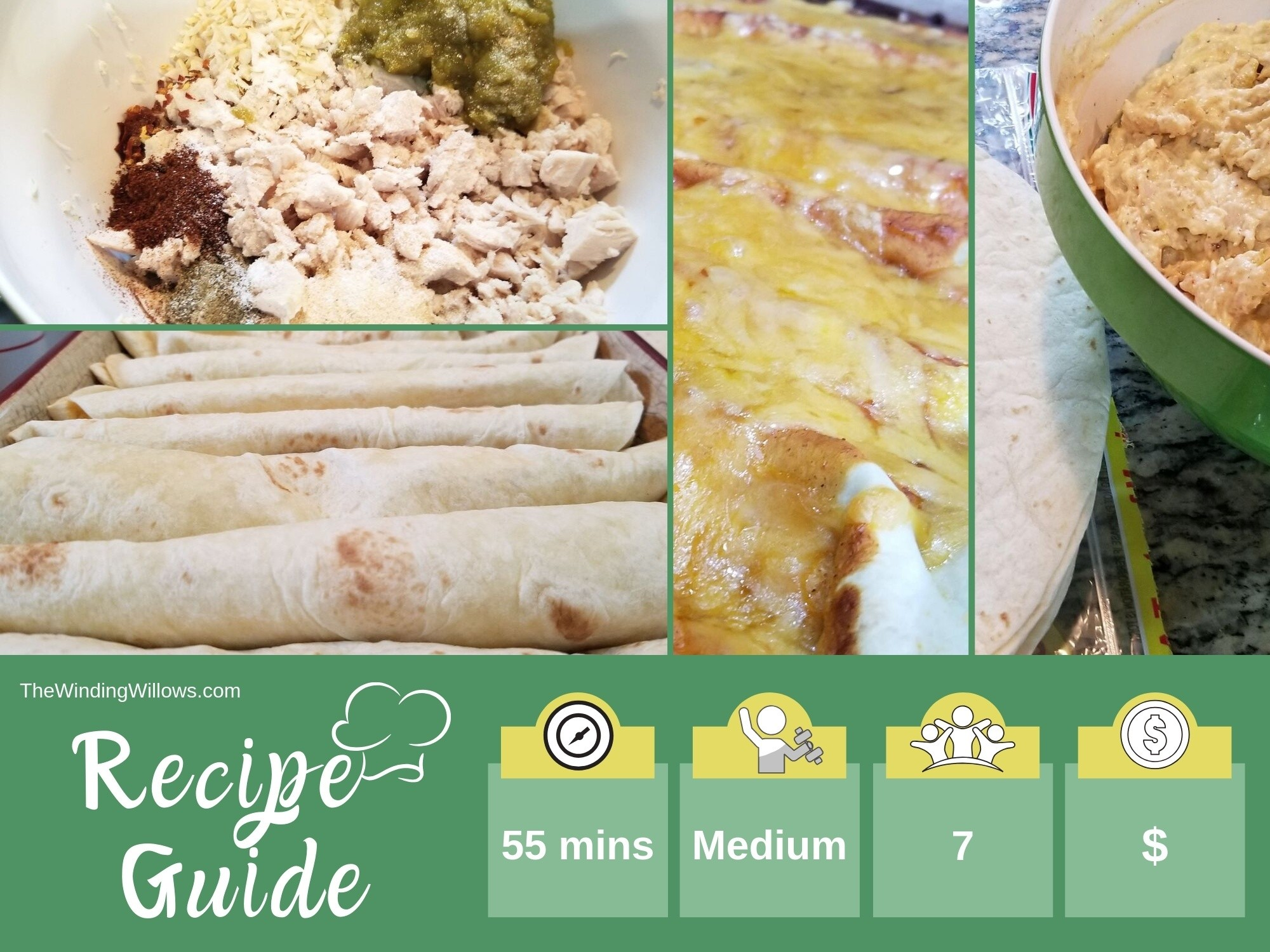 These zesty cream cheese chicken enchiladas are a super easy, super delicious, super kid-friendly Mexican dish! You can prep ahead of time and have a great weeknight meal. Easy Dinner | Stepmom | Chronic Illness | Mexican Food | Red Chili | Delicious Dinner